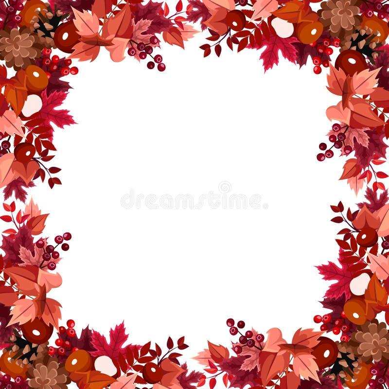 Το φθινόπωρο αφήνει το πλαίσιο. απεικόνιση αποθεμάτων