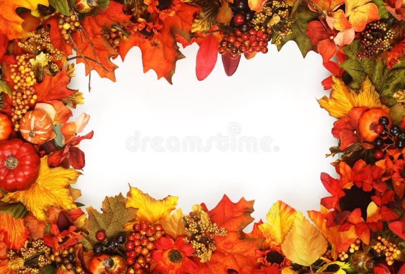 Το φθινόπωρο αφήνει το πλαίσιο στοκ εικόνα
