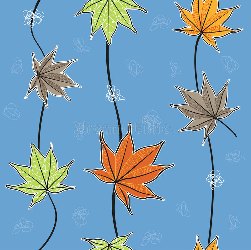 Το φθινόπωρο αφήνει το σχέδιο/τα φύλλα σφενδάμου ελεύθερη απεικόνιση δικαιώματος