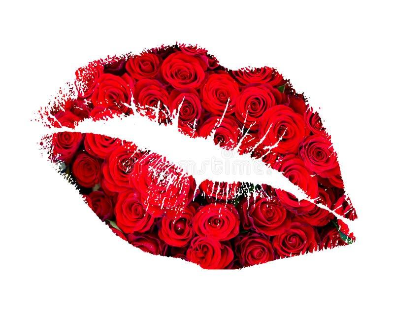 Το φιλί από αυξήθηκε στοκ φωτογραφίες με δικαίωμα ελεύθερης χρήσης