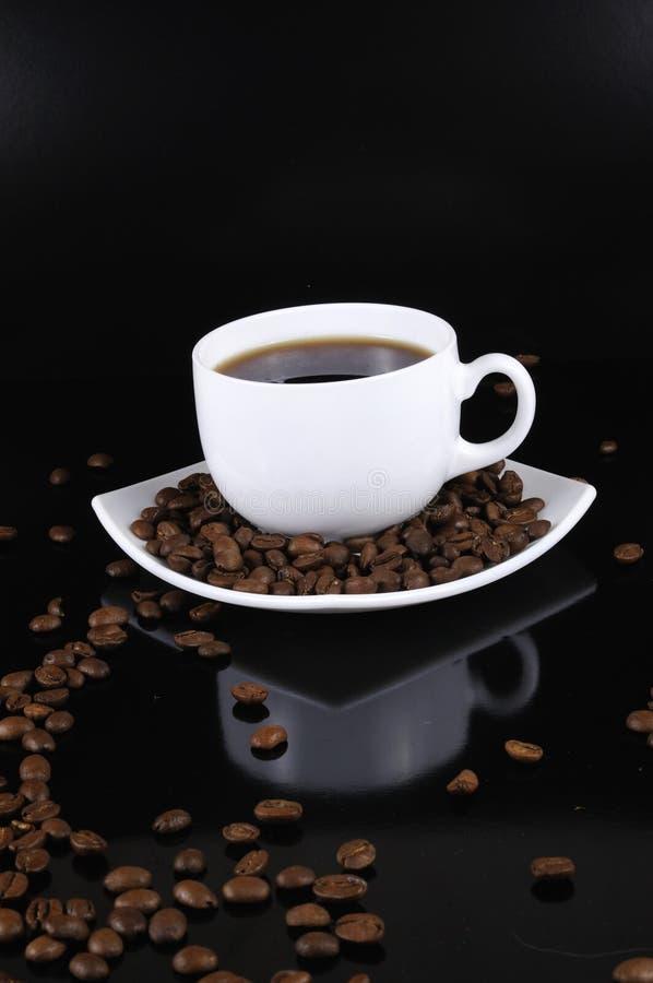 το φλυτζάνι καφέ φασολιών στοκ εικόνα