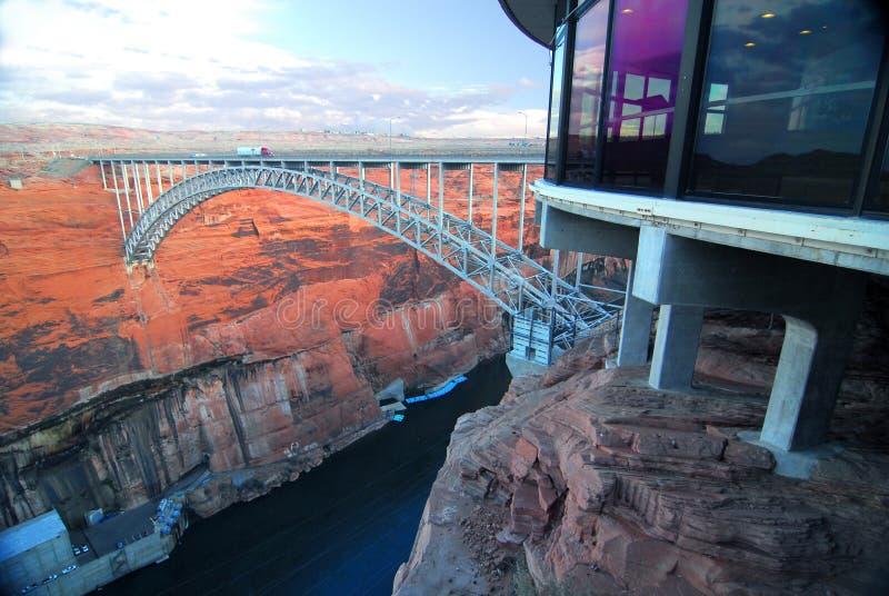 το φράγμα φαραγγιών γεφυρ στοκ φωτογραφίες