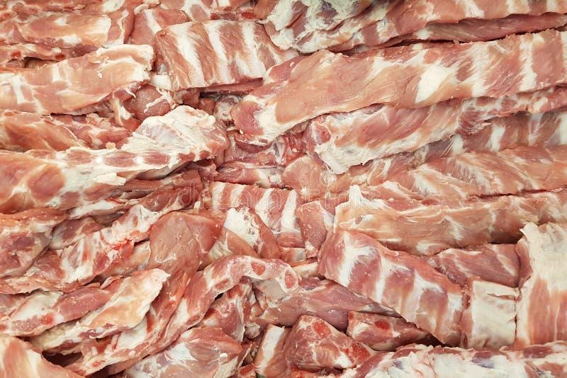 Το φρέσκο χοιρινό κρέας σχίζει στην αγορά στοκ φωτογραφία με δικαίωμα ελεύθερης χρήσης