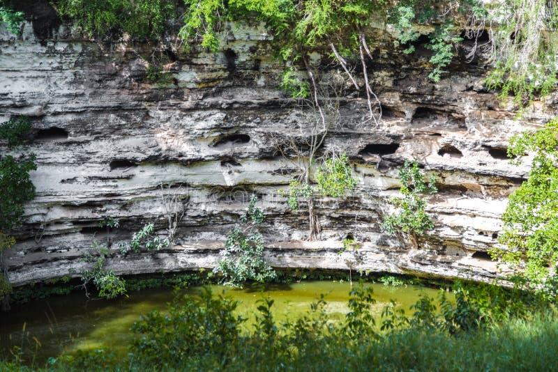 Το φρεάτιο του θανάτου σε Chichen Itza Cenote Μεξικό στοκ εικόνες