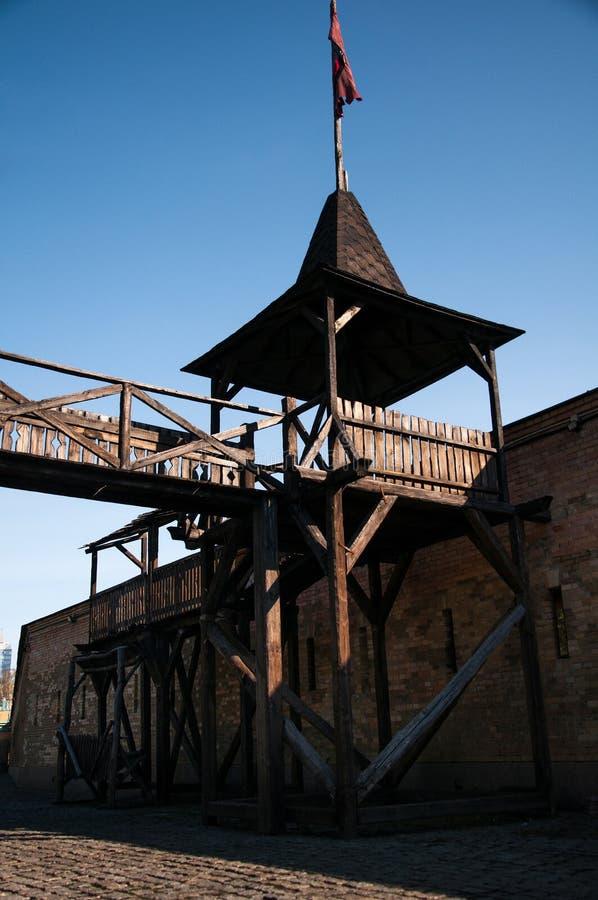 Το φρούριο του Κίεβου - λοξό Caponier Φωτογράφιση στο kontrovy φως r στοκ φωτογραφία