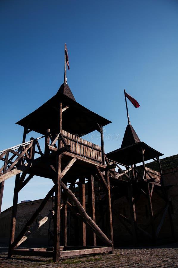 Το φρούριο του Κίεβου - λοξό Caponier Φωτογράφιση στο kontrovy φως r στοκ εικόνες