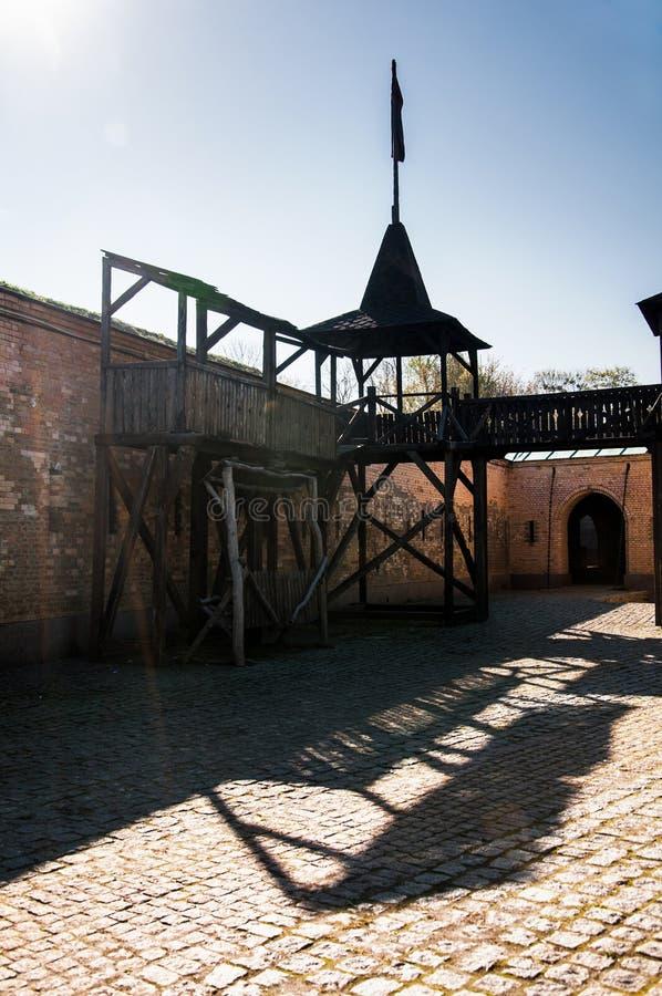 Το φρούριο του Κίεβου - Kosyi Caponier Φωτογράφιση στο kontrovy φως r στοκ φωτογραφίες με δικαίωμα ελεύθερης χρήσης