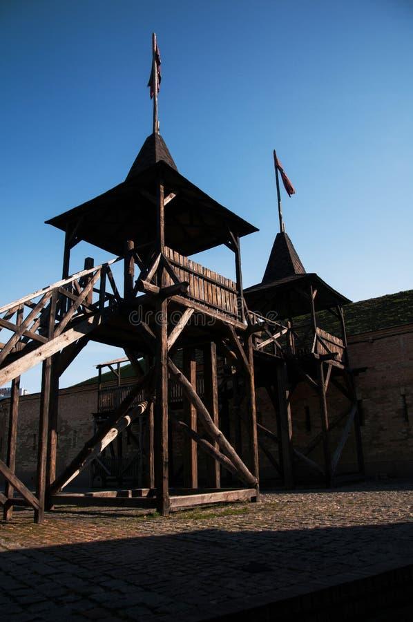 Το φρούριο του Κίεβου - Kosyi Caponier Φωτογράφιση στο kontrovy φως r στοκ εικόνα