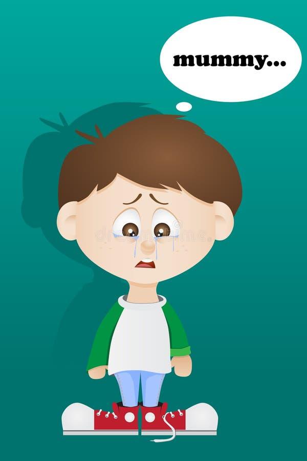 Το φωνάζοντας παιδί διανυσματική απεικόνιση