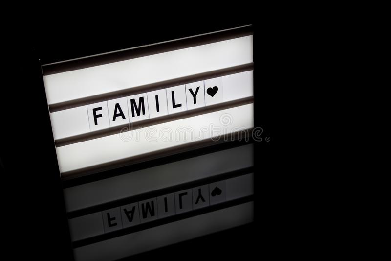 Το φως γράφει την οικογένεια στοκ εικόνα με δικαίωμα ελεύθερης χρήσης