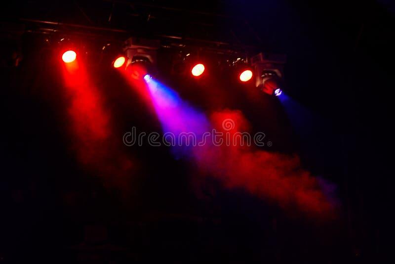 Το φως συναυλίας παρουσιάζει στοκ εικόνες