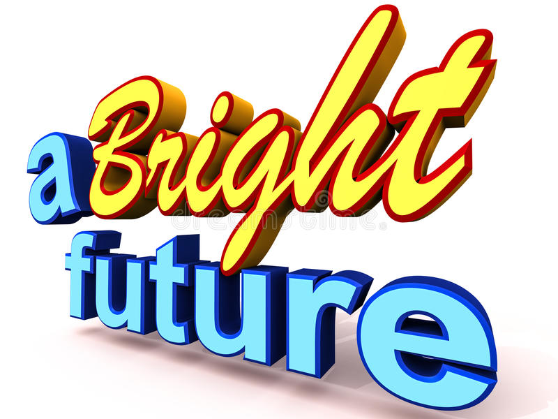 Το φωτεινό μέλλον ελεύθερη απεικόνιση δικαιώματος