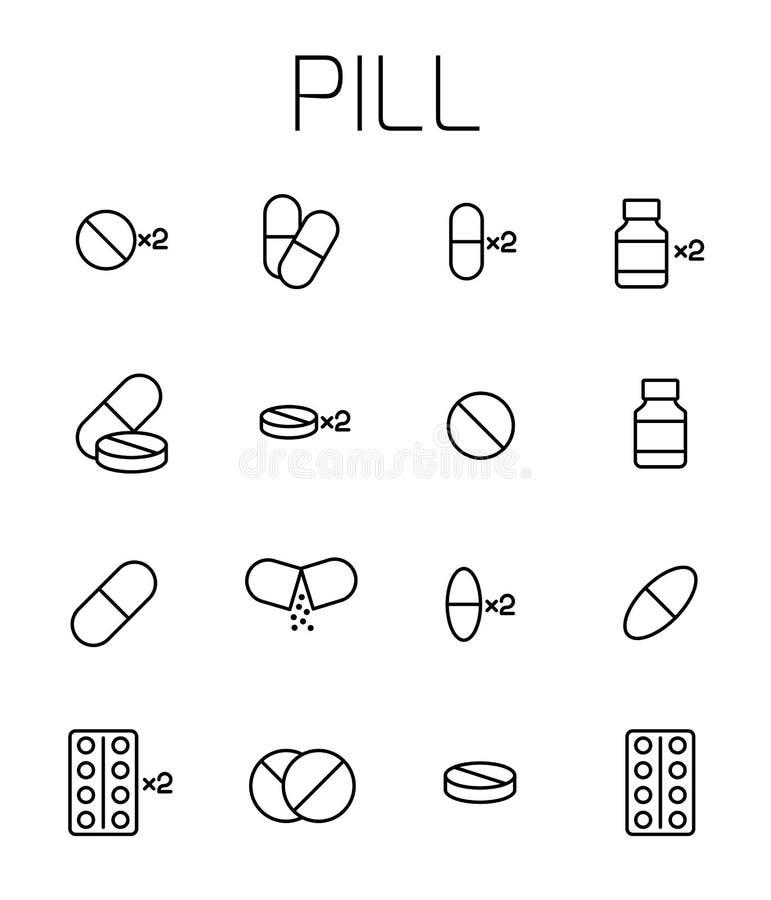 Το χάπι αφορούσε το διανυσματικό σύνολο εικονιδίων διανυσματική απεικόνιση