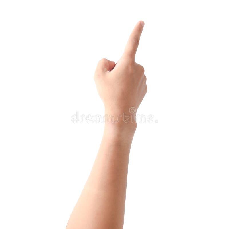 το χέρι ανασκόπησης απομόν&omeg στοκ φωτογραφία