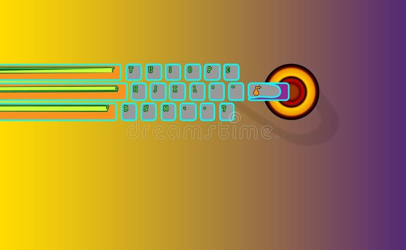 Το χέρι απαιτείται για εισάγει Το αφηρημένο πληκτρολόγιο υποβάθρου, πηγαίνει μια ε-εκμάθηση Πιέστε το πληκτρολόγιο και όλα θα γίν διανυσματική απεικόνιση