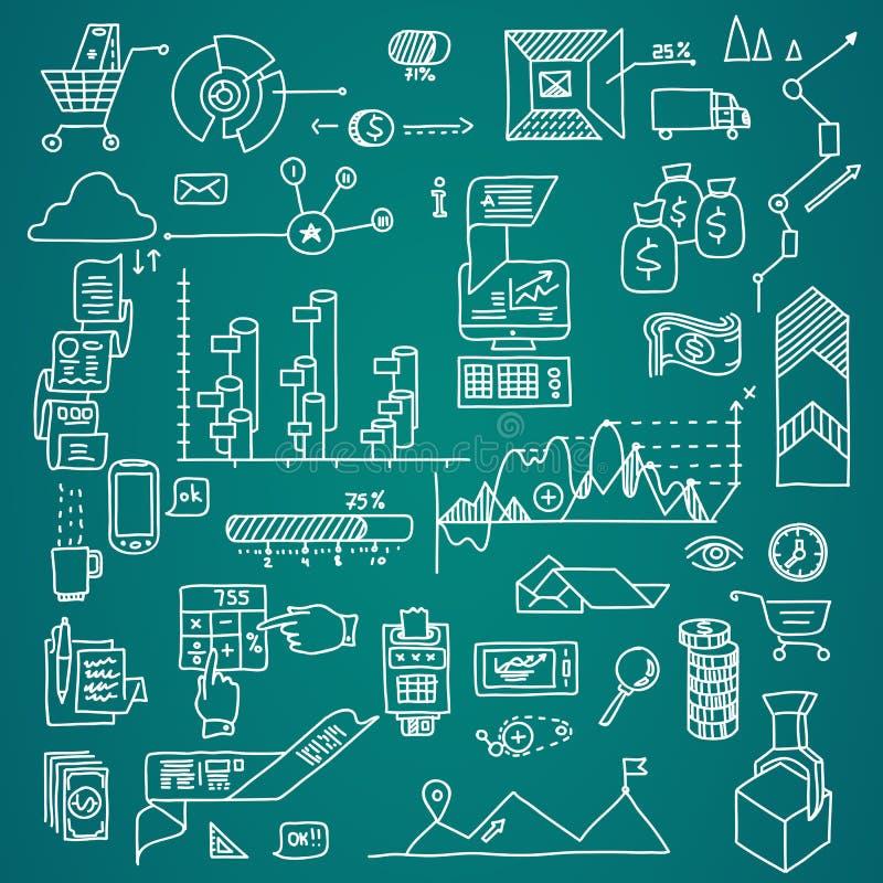 Το χέρι αποδοχών analytics επιχειρησιακής χρηματοδότησης τράπεζας σύρει doodle τα στοιχεία ελεύθερη απεικόνιση δικαιώματος