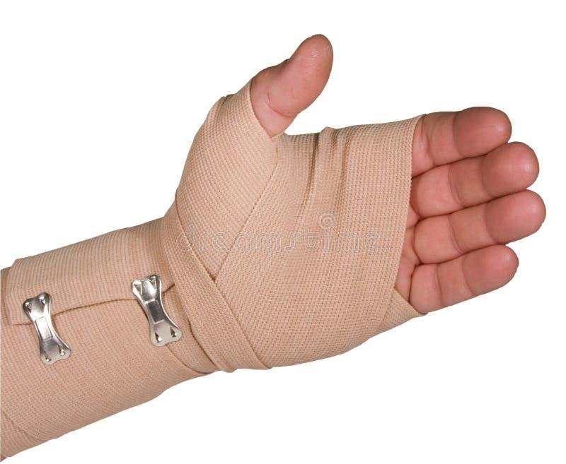 το χέρι επιδέσμων άσσων απο στοκ φωτογραφία με δικαίωμα ελεύθερης χρήσης