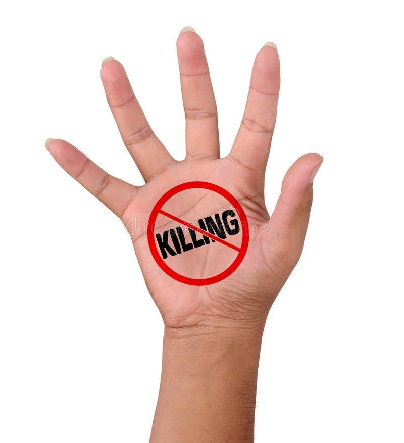 Το χέρι και δεν διατυπώνει καμία δολοφονία στοκ φωτογραφίες με δικαίωμα ελεύθερης χρήσης