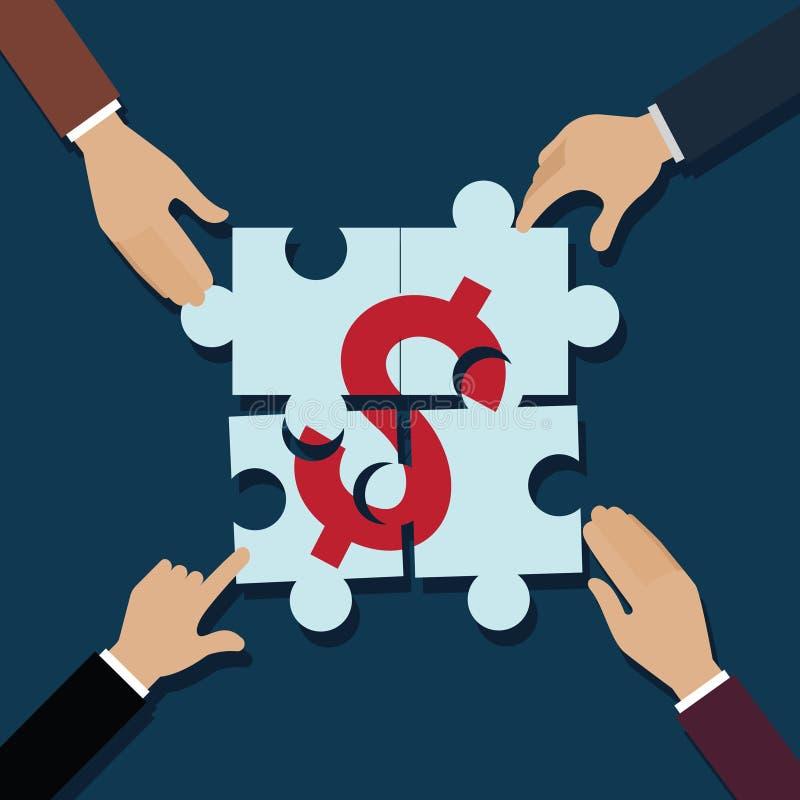 Το χέρι μιας επιχείρησης γλιστρά το τορνευτικό πριόνι γρίφων Αποτελούμενος ως δολάριο χρημάτων χρυσή ιδιοκτησία βασικών πλήκτρων  απεικόνιση αποθεμάτων