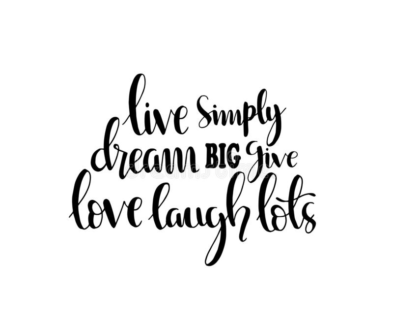 Το χέρι που γράφει το ζωντανό απλά όνειρο μεγάλο δίνει τα μέρη γέλιου αγάπης ελεύθερη απεικόνιση δικαιώματος