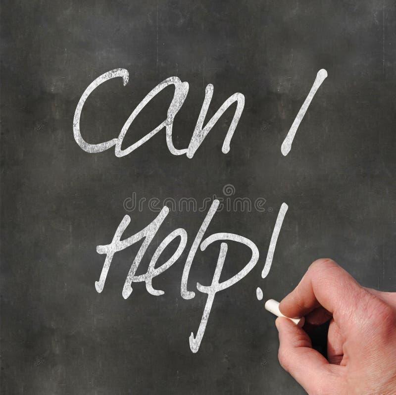 Το χέρι που γράφει «μπορεί εγώ να βοηθήσει» στοκ φωτογραφίες
