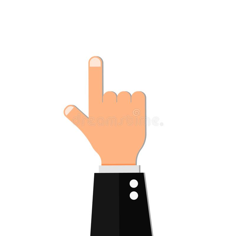Το χέρι σημείου δάχτυλων παρουσιάζει διάνυσμα απεικόνιση αποθεμάτων