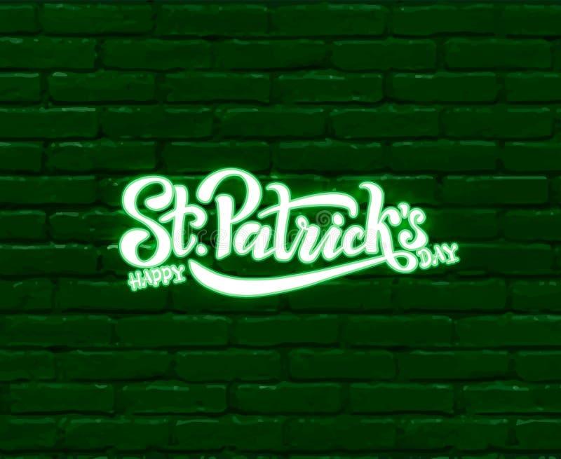 Το χέρι σκιαγράφησε το ιρλανδικό σχέδιο εορτασμού Διανυσματική απεικόνιση της ευτυχούς ημέρας Αγίου Πάτρικ logotype Εγγραφή φεστι διανυσματική απεικόνιση