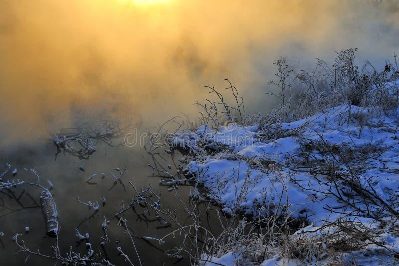 Το χειμερινό πρωί στοκ εικόνες