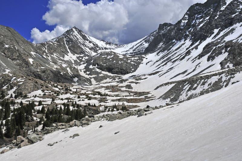 Το χιόνι κάλυψε τις αιχμές και το βράχο Sangre de Cristo Range, Κολοράντο στοκ φωτογραφίες με δικαίωμα ελεύθερης χρήσης