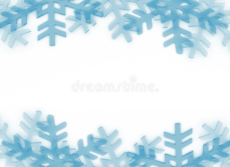 Το χιόνι ξεφλουδίζει το πλαίσιο διανυσματική απεικόνιση
