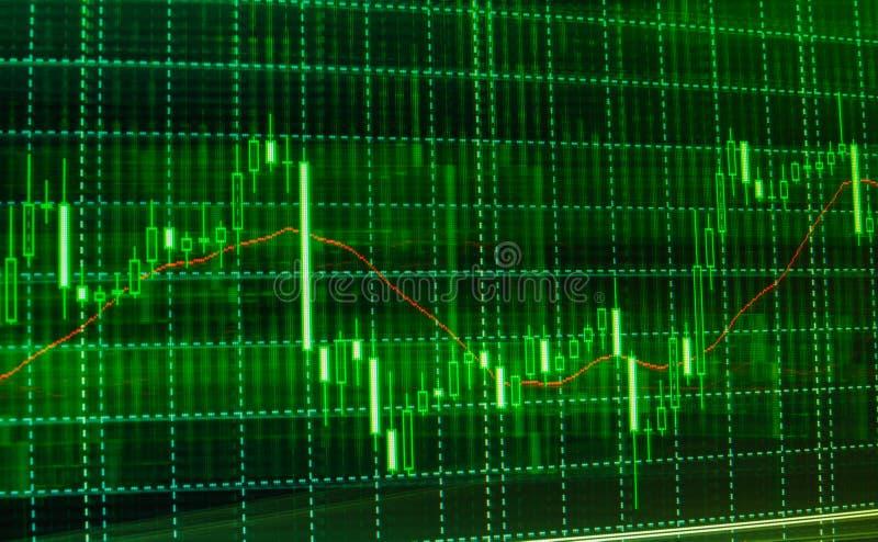 Το χρηματιστήριο αναφέρει τη γραφική παράσταση στοκ εικόνες