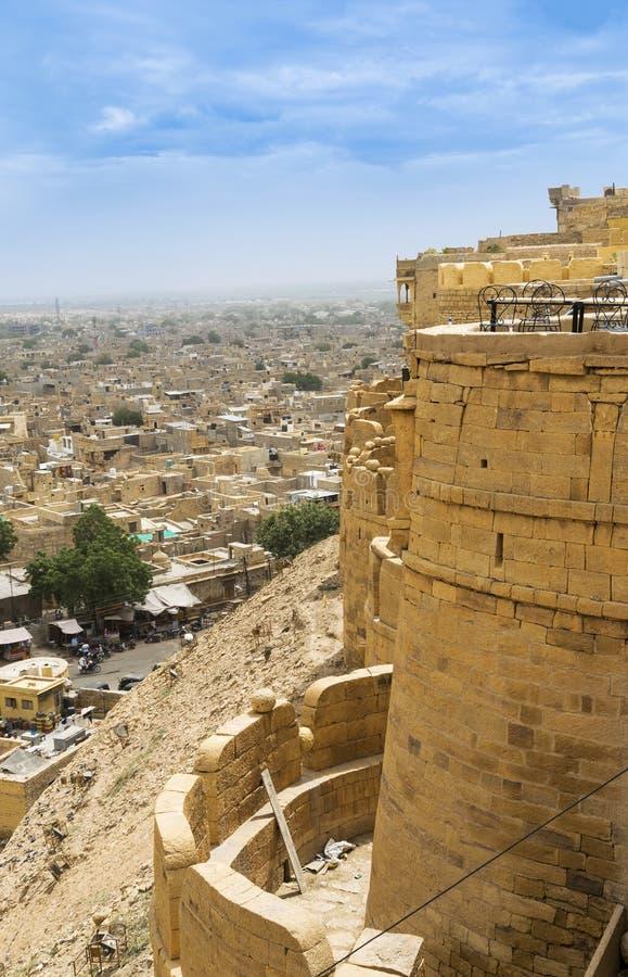 Το χρυσές οχυρό και η άποψη στην πόλη Jaisalmer στοκ εικόνα με δικαίωμα ελεύθερης χρήσης