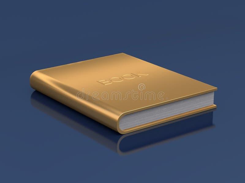 Το χρυσό βιβλίο στην αντανάκλαση πατωμάτων τρισδιάστατη δίνει ελεύθερη απεικόνιση δικαιώματος