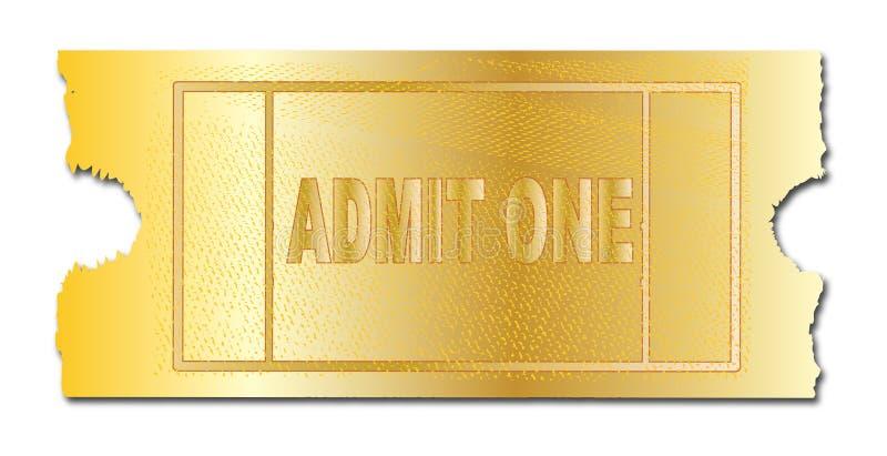 Το χρυσό εισιτήριο αναγνωρίζει ενός απεικόνιση αποθεμάτων