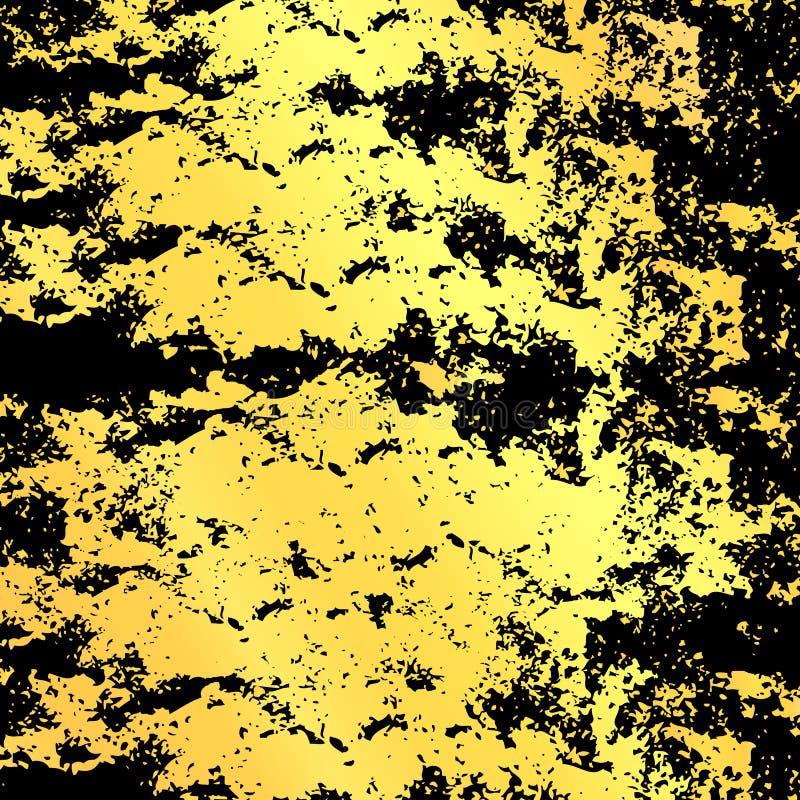 Το χρυσό καφετί υπόβαθρο, το χρυσό κέντρο και τα καφετιά σύνορα σύντομων χρονογραφημάτων, αφαιρούν την εκλεκτής ποιότητας σύσταση ελεύθερη απεικόνιση δικαιώματος