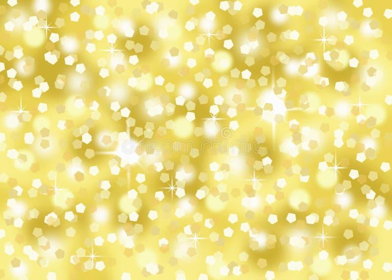Το χρυσό κομφετί ακτινοβολεί διακοπών εορταστικό υπόβαθρο bokeh εορτασμού αφηρημένο απεικόνιση αποθεμάτων