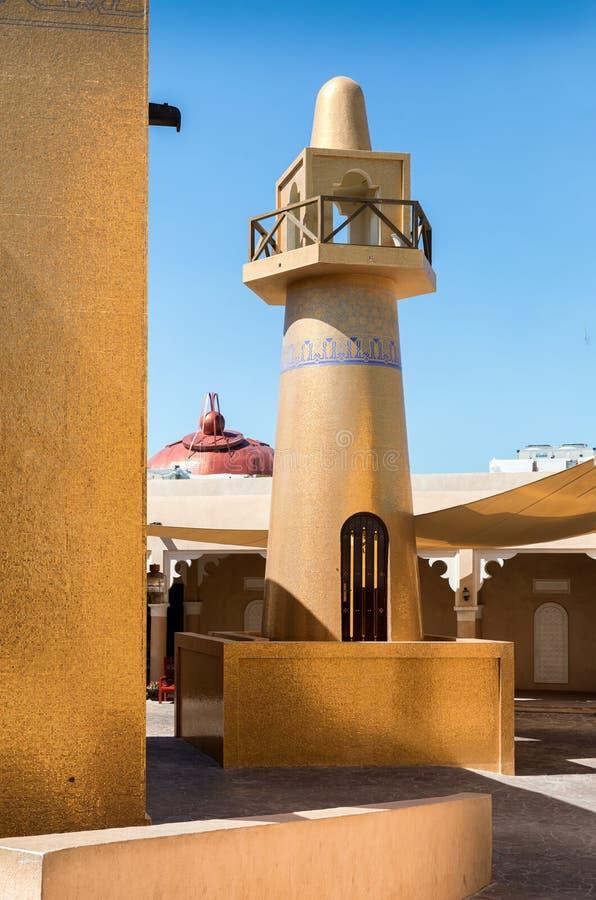 Το χρυσό μουσουλμανικό τέμενος στο πολιτιστικό κέντρο Katara στοκ φωτογραφία με δικαίωμα ελεύθερης χρήσης