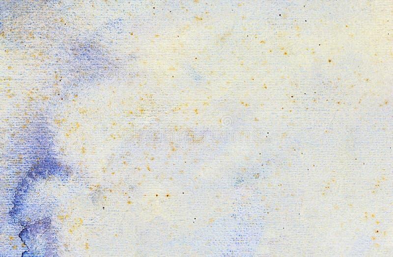 Το χρωματισμένο σύσταση υδατόχρωμα εγγράφου για το υπόβαθρο, σχεδίασε grun στοκ εικόνα με δικαίωμα ελεύθερης χρήσης