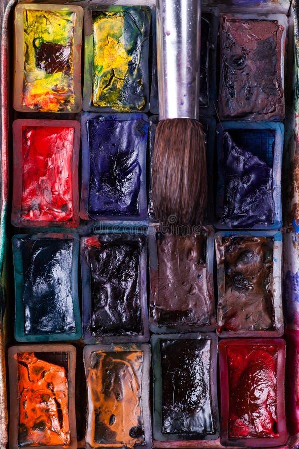 Το χρώμα αυλακώνει την κινηματογράφηση σε πρώτο πλάνο στοκ εικόνα με δικαίωμα ελεύθερης χρήσης