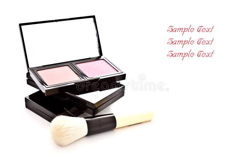 το χρώμα βουρτσών makeup έθεσε στοκ φωτογραφία με δικαίωμα ελεύθερης χρήσης