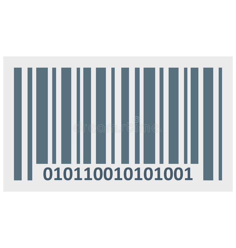 Το χρώμα γραμμωτών κωδίκων απομόνωσε το διανυσματικό εικονίδιο που μπορεί εύκολα να τροποποιηθεί και να εκδώσει ελεύθερη απεικόνιση δικαιώματος