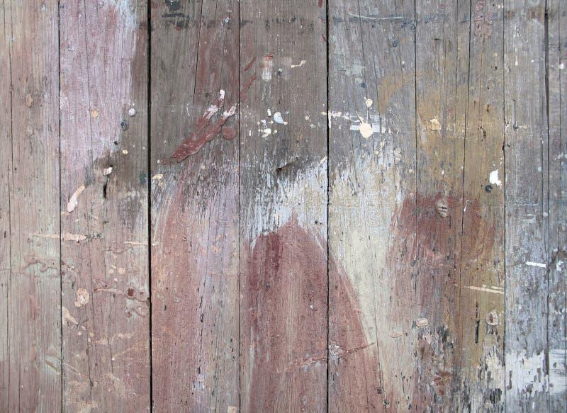 Το χρώμα λεκίασε τον παλαιό ξύλινο φράκτη στοκ εικόνα με δικαίωμα ελεύθερης χρήσης