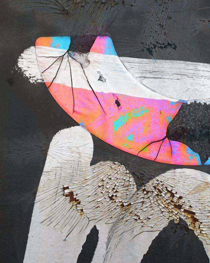 Το χρώμα κτυπά την περίληψη σκουριάς στοκ φωτογραφία με δικαίωμα ελεύθερης χρήσης