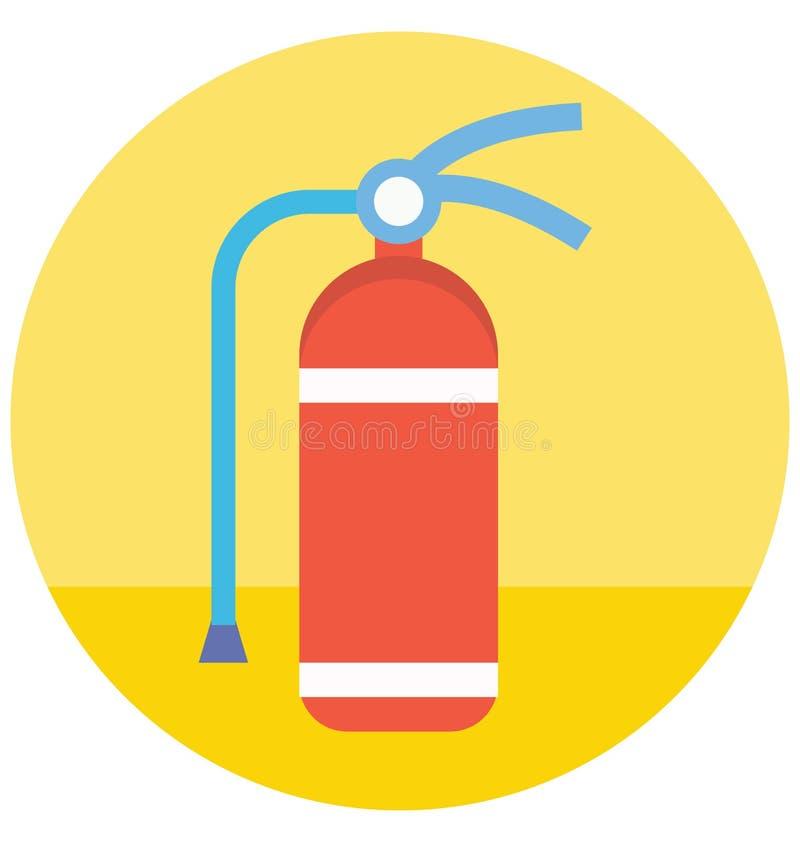 Το χρώμα πυροσβεστήρων απομόνωσε το διανυσματικό εικονίδιο που μπορεί να τροποποιηθεί εύκολα ή να εκδώσει διανυσματική απεικόνιση