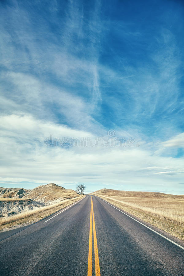 Το χρώμα τόνισε τη φυσική εθνική οδό στοκ εικόνες