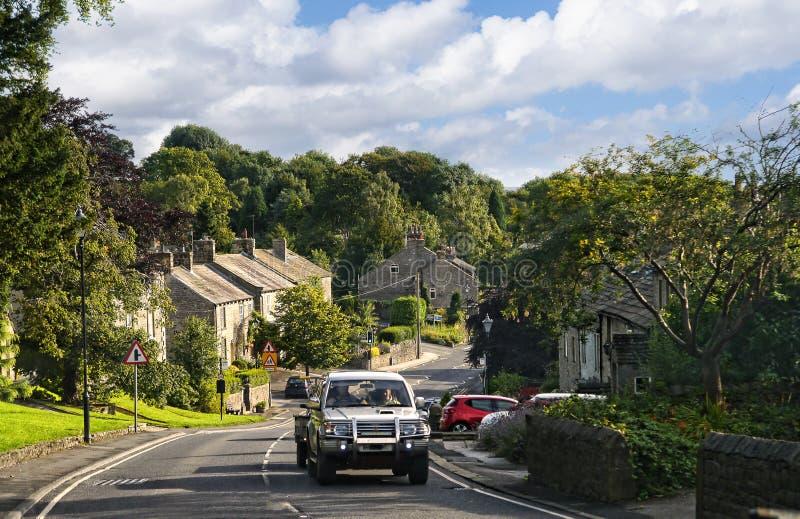 Το χωριουδάκι Thornton σε Craven στα σύνορα lancashire-Γιορκσάιρ στοκ εικόνες