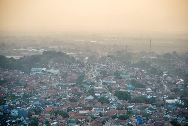 Το χωριό σε Banjaran, Jawa Barat, Ινδονησία στοκ φωτογραφίες