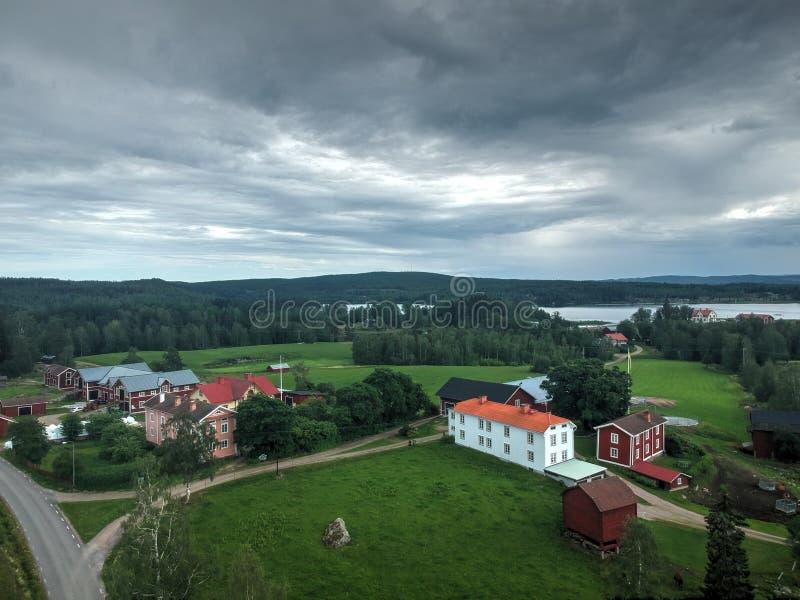 Το χωριό στη Σουηδία στοκ φωτογραφίες