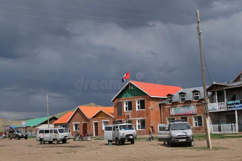 Το χωριό του ροπάλου Ulzii στη Μογγολία στοκ εικόνες