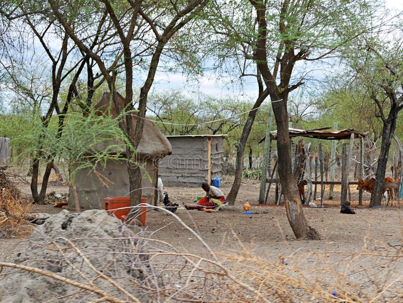 Το χωριό των μαζών στην Τανζανία στοκ εικόνες με δικαίωμα ελεύθερης χρήσης